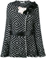 Lanvin diamond knit belted jacket - women - Cotton/Polyamide/Polyester/glass - M