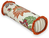 Rose Tree Lisburn Fringed Jacobean Floral & Striped Neckroll Pillow