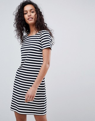 Vila Stripe Short Sleeve Dress-Multi