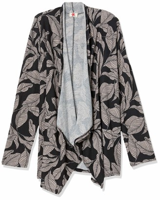 Forever 21 Women's Plus Size Leaf Print Cardigan
