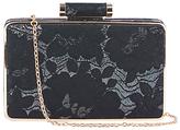 Oasis NTU Lace Box Clutch Bag, Multi Black