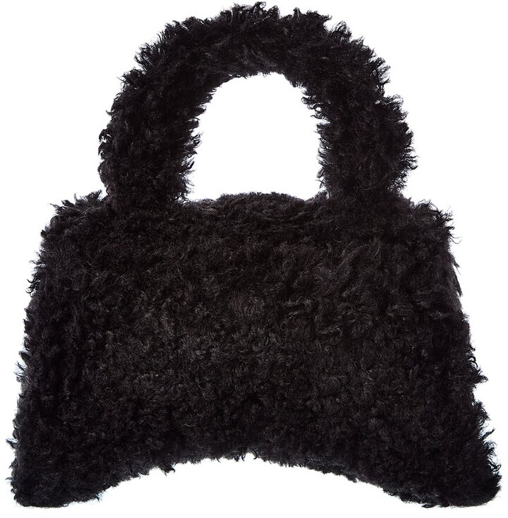 Thumbnail for your product : Balenciaga Hourglass Xs Fluffy Top Handle Satchel