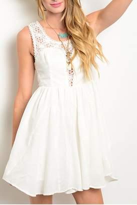Ark & Co Crochet Back Dress