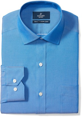 Buttoned Down Amazon Brand Men's Tailored-Fit Spread Collar Pinpoint Non-Iron Dress Shirt With Pocket