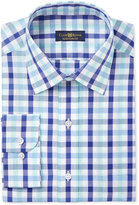 Club Room Men's Classic Fit Wrinkle Resistant Mint Blue Gingham Dress Shirt, Only at Macy's