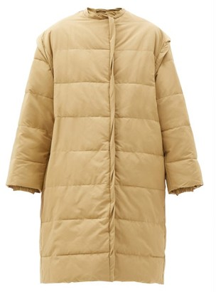 Givenchy Ruffle-edge Quilted Cotton-blend Jacket - Beige