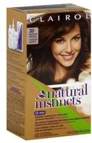 Clairol Natural Instincts Haircolor, Medium Brown 20 for Women, 1 Application Hair Color