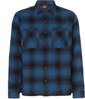 Ralph Lauren RRL Towns Camp Plaid Cotton-Blend Flannel Shirt Size: L