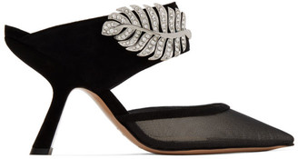 Nicholas Kirkwood Black Monstera Mules