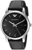 Emporio Armani Men's AR1692 Dress Black Leather Watch
