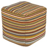 """Surya Mandala Stripe Cube Pouf 18"""" x 18"""" x 18"""""""