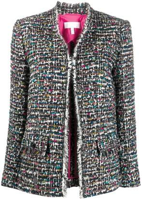 Escada Sport Frayed Tweed Jacket
