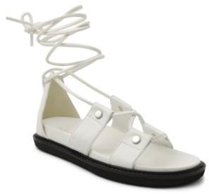 BCBGeneration Millie Lace Up Flat Sandals Women's Shoes