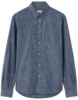Jigsaw Bound Edge Slim Fit Chambray Shirt, Blue