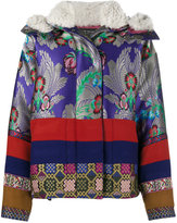 Etro shearling trimmed jacquard jacket