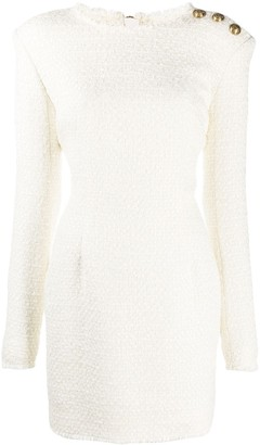 Balmain Boucle Tweed Mini Dress