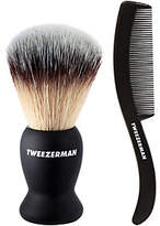 Tweezerman Deluxe Shaving Brush and Bonus Moustache/Beard Comb