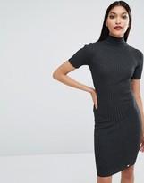 Lipsy Rib Detail Knit Dress