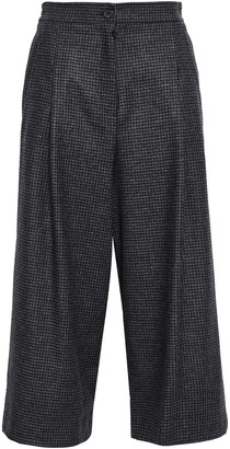 McQ Houndstooth And Prince Of Wales Checked Wool Culottes