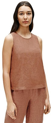 Eileen Fisher Round Neck Shell (Cinnamon) Women's Clothing
