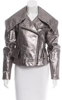 Donna Karan Metallic Leather Jacket