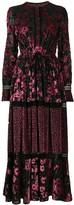 Talbot Runhof floral pattern dress
