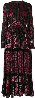 Talbot Runhof Floral Pattern Dress