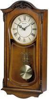 Bulova 19 in. H x 9 in. W Pendulum Chime Wall Clock
