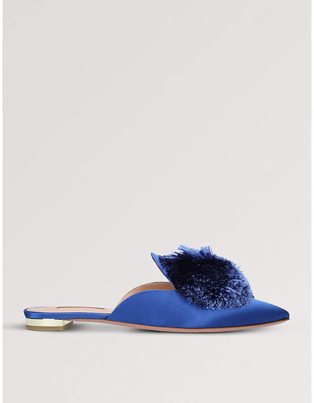 Aquazzura Powder Puff satin mules