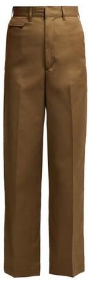 Toga Wide-leg Cotton-blend Trousers - Womens - Khaki