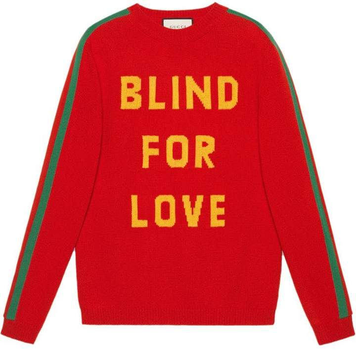 Gucci Blind for Love and bee wool sweater