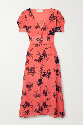 MICHAEL Michael Kors Floral-print Crepe Midi Dress - Orange