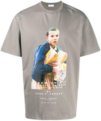 Ih Nom Uh Nit Stranger Things-print cotton T-shirt