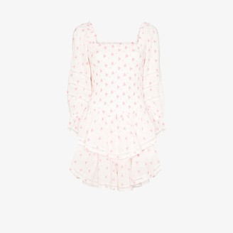 LoveShackFancy Raelynn embroidered tiered dress