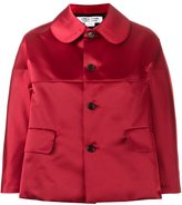 Comme des Garcons cropped boxy jacket - women - Polyester/Cupro - S