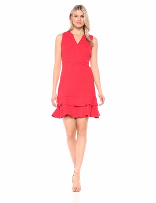 Sharagano Women's Double Hem Dress