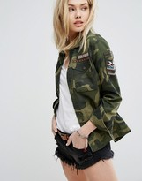 Abercrombie & Fitch Camo Trophy Jacket With Badges