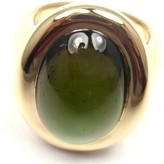 Cartier 18K Yellow Gold Large Oval Cabochon Tourmaline Ring