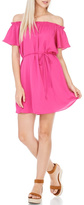 Everly Solid Fuchsia Dress