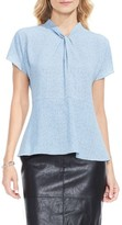 Vince Camuto Women's Twist Neck Peplum Blouse