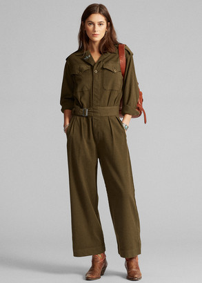 Ralph Lauren Wool-Blend Twill Coverall