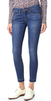 Blank Skinny Ankle Jeans with Frayed Hem