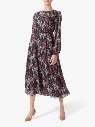 Hobbs Eden Tea Dress, Midnight Rose