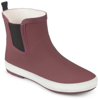 Brinley Co. Women's Rubber Sporty Solid Color Rainboots