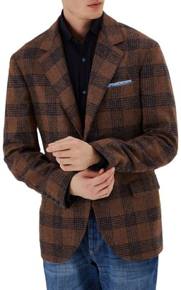 Brunello Cucinelli Plaid Alpaca & Wool-Blend Jacket