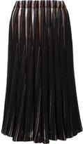 ADAM by Adam Lippes stripe effect pleated skirt - women - Cotton - 0