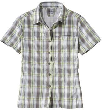 L.L. Bean Women's Tropicwear Shirt, Plaid Short-Sleeve