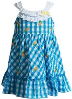Youngland Toddler Girl Plaid Pineapple Ruffle Sundress