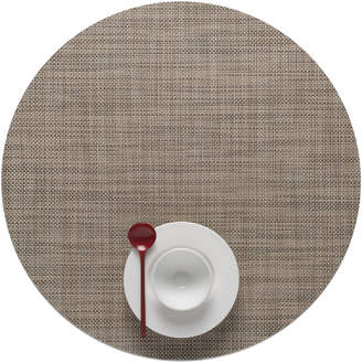 Lulu & Georgia Chilewich Mini Basketweave Round Placemat, Linen (Set of 4)