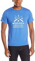 Woolrich Men's Hayes Run Heather Graphic Tee